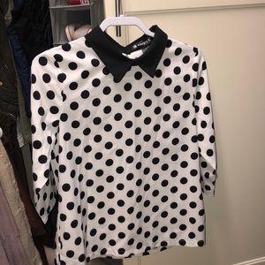 Women's polka dot blouse - never worn - small